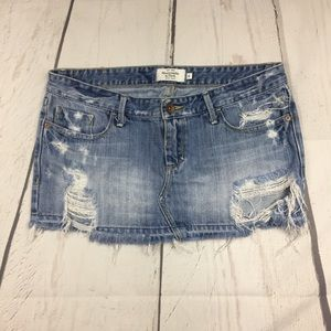 Abercrombie & Fitch Destroyed Mini Skirt size 4!